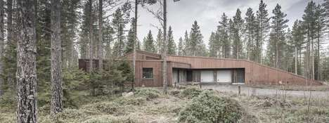 Rust-Paneled Homes - Alt Arkkitehdit Clad This Woodland House in Rusted Corten Steel