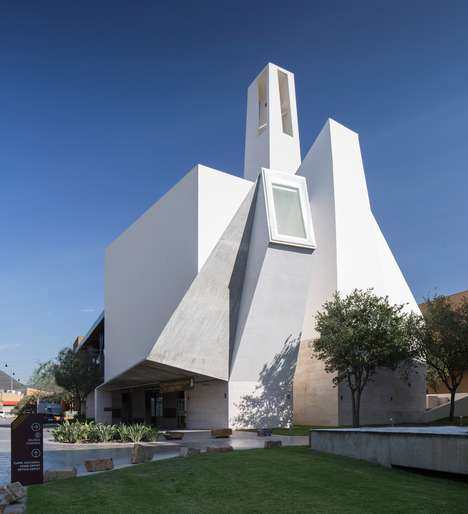 Stunning Sculptural Churches - Moneo Brock Designed a Cyrstal-Like Worship Space in Monterrey
