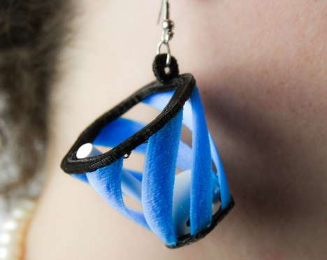Novelty Ear Bud Catchers - M3D's Air'rings are 3D-Printed Earrings with Nets for Catching Air Pods