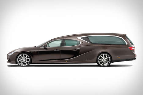 Supercar Funeral Hearses - The Maserati Hearse Lets One Literally Go Out in Style