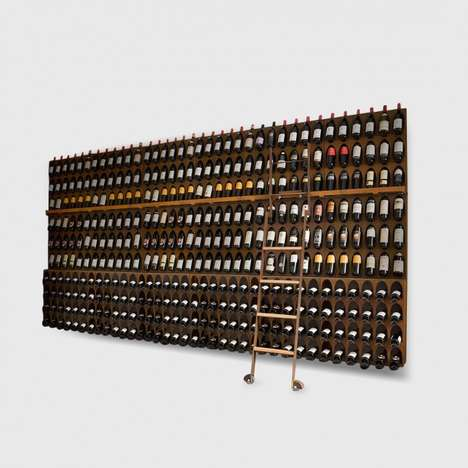 Organized Wine Storage Systems - The 'Libreria del Vino' Wine Library Stores Wine with the Label Out