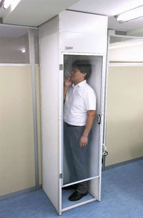 Office Smoking Pods - Ryonetsu Has Developed a Single-Occupant Smoking Booth for Office Workers