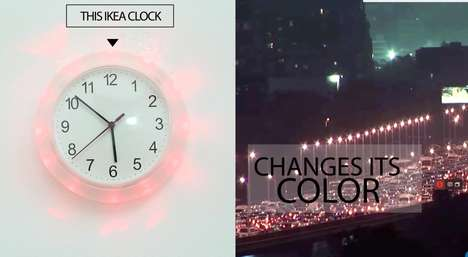 Traffic-Tracking Clocks - This IKEA Clock Hack Turns the Device into a Traffic Congestion Indicator