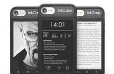 eReader Smartphone Cases - The Oaxis InkCase i7 is an Apple iPhone 7 Case with an E-Ink Display