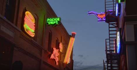 Neon-Clad Alleyways - The Neon Alley Street Party lit up the streets of Pueblo, Colorado