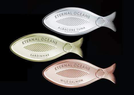 Fish-Shaped Tuna Branding - Eternal Oceans Promotes Sustainable Fishing with Stylish Packaging