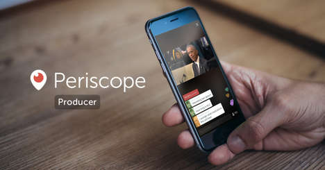 Professional Live Streaming Apps - Periscope Producer Lets Users Live Stream with Pro Equipment