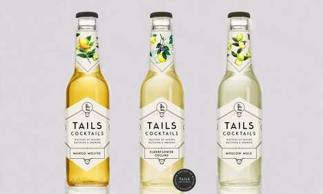Eccentric Cocktail Flavors - 'Tails Cocktails' Boast a Sophisticated Brand Identity