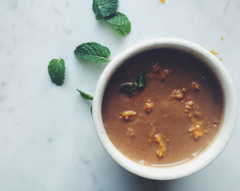 Cocoa Potato Soups - This Sweet Potato Soup Takes on a Spicy-Sweet Flavor with Coconut and Cocoa
