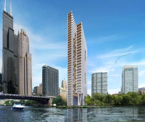 Vertiginous Timber Towers - The River Beech Tower Will Rise 80 Storeys Above the Chicago River