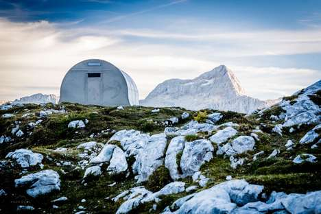 Aluminum Alpine Shelters - This Slovenian Shelter Can Handle Extreme Winter Conditions