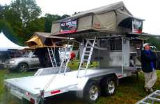 Car-Carrying Camping Trailers