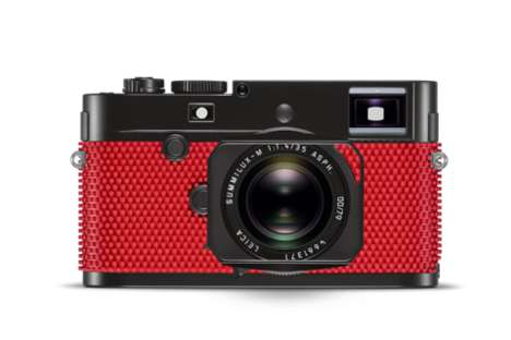 Rubberized Professional Cameras - The Leica x Rolf Sachs M-P Grip Camera Features a Pop Art Design