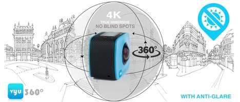Virtual Reality Action Cams - The 'Vyu360' 4K Ultra HD Camera Captures Immersive Adventure Footage