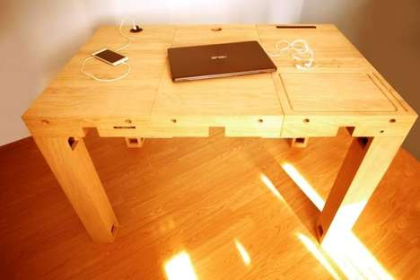 Modular Wooden Tech Desks - 'Deskbloks' Enable Users to Build a Desk to Their Exact Needs