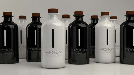 Medicinal Olive Oil Branding - PROTON Greek Olive Oil is Packaged to Reflect its Medicinal Uses