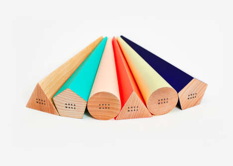 Geometric Standing Pens - These Pens Were Created with a Whimsical Design
