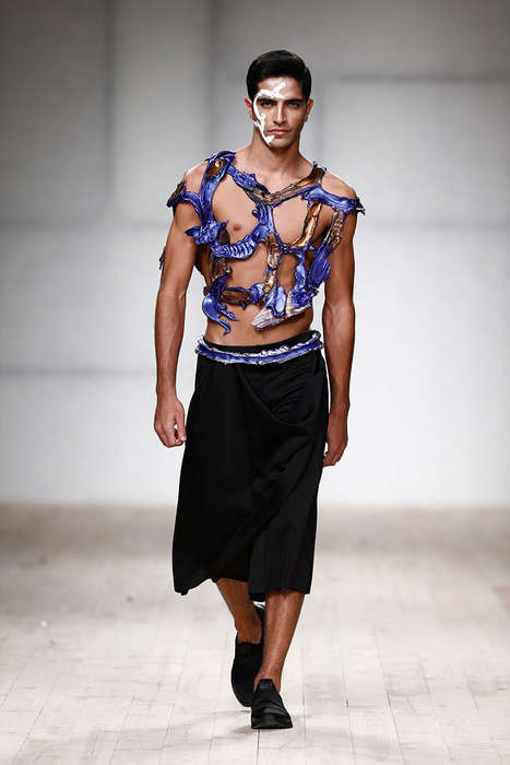Freedom-Inspired Fashion - Valentim Quaresma's Latest Line Features Intricate Sculptural Work