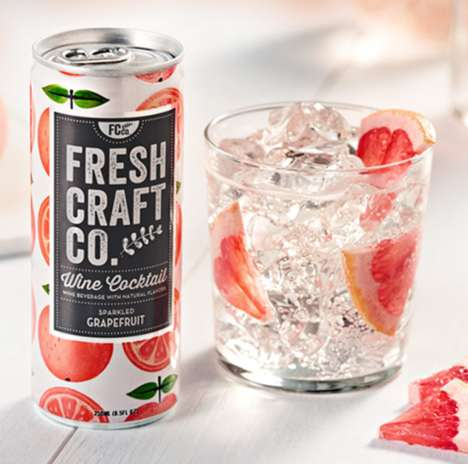 Canned Wine Cocktails - Fresh Craft Co.'s Sparkling Cocktails are Served in Convenient Cans