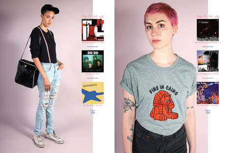 Nostalgic Androgynous Apparel - Psychic Hearts' 'Enjoy This With' Collection Carries New Wave Motifs