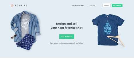 T-Shirt Sales Platforms - Bonfire Lets Consumers Design and Sell T-Shirts