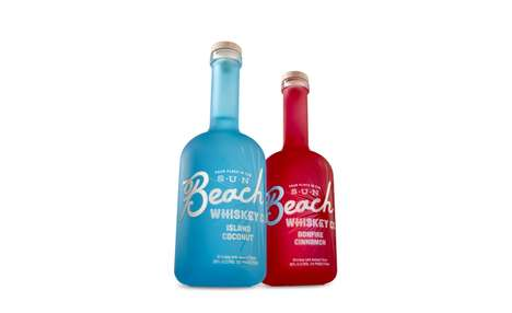 Sea Glass Whiskey Bottles - This 'Beach Whiskey' Spirit Reminds of Relaxing Seaside Lifestyles