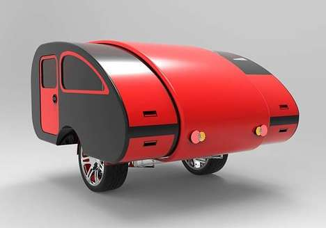 Expandable Teardrop Trailers - This Kaesar Camp Trailer Adjusts to Variable Sizes and Needs