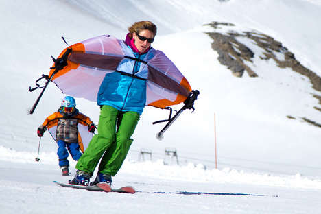 Winter Sport Wings - The 'Wingjump' Aids Ski Jumping by Providing Skiers with Wings