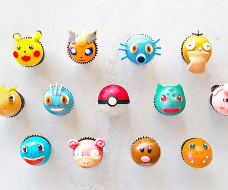 Scrumptious Anime Cake Desserts - These Pokemon Cupcakes Come in Various Styles and Flavors