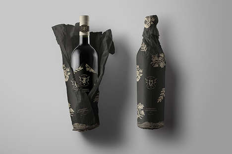Wrapped Bottle Winery Branding - The Puchang Winery Visual Branding Focuses on Nature