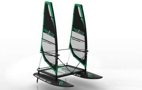 Hybrid Floating Aquatic Boards - The Wave Chaser Merges the Paddle Board with the Catamaran