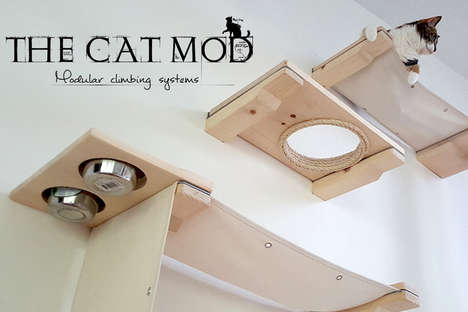 Modular Cat Furniture - Catastrophicreations' 'Cat Mod' Furniture Gives Cats Their Own Complexes