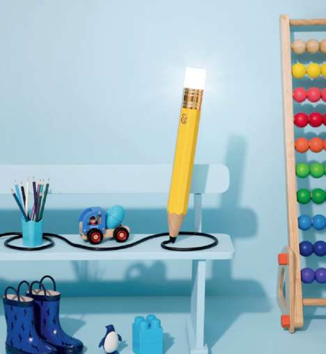 Pencil-Shaped Lamps - The 'Drew the Pencil' Lamp is a Quirky Piece of Functional Home Decor