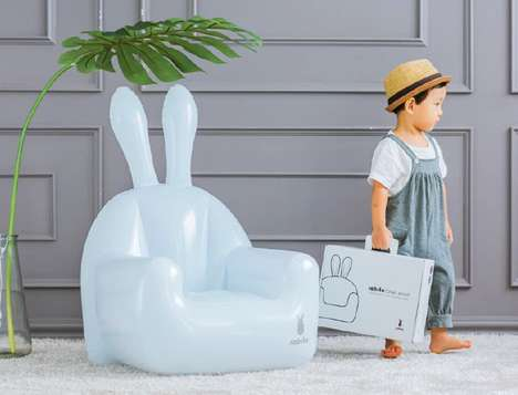 Animalistic Inflatable Furniture - The Rabito Inflatable Child Chair Can be Inflated on Demand