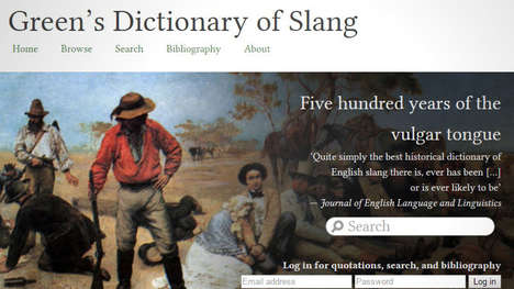 Scholarly Slang Dictionaries - Green's Dictionary of Slang is Like an Educational Urban Dictionary