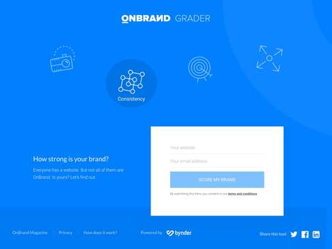 Online Brand-Measuring Tools - 'OnBrand Grader' is a Free Marketing Tool to Test Branding Strength
