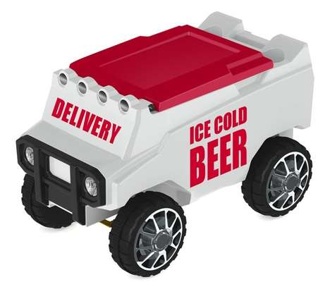 Remote Control Coolers - The C3 Custom Cooler Carries Beverages on Wheels via Remote Control