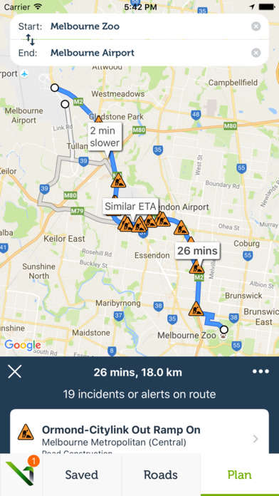 Congestion-Fighting Traffic Apps - The VicRoads App Alerts Drivers to Road and Traffic Conditions