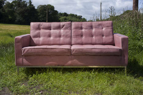 Deceptive Concrete Sofas - Four Eight Eight's Concrete Sofa Perfectly Mimics Leather Upholstery