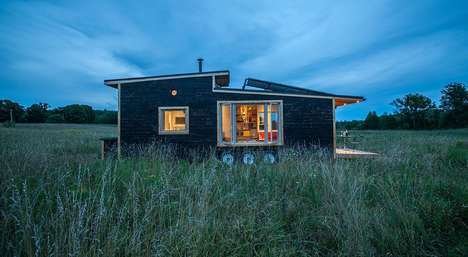 Drawbridge-Decked Dwellings - This Off-Grid Tiny Home Has a Motor-Powered Drawbridge Deck