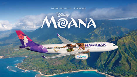 Disney Princess-Themed Aircraft - This Airline Design & Promotion is Inspired By Disney's 'Moana'