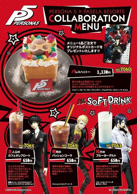 Video Game-Themed Menus - This Tokyo Cafe's Themed Menu is Inspired By the 'Persona 5' Video Game