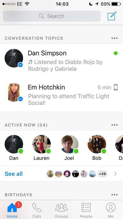 Conversation-Prompting Apps - Facebook Messenger's 'Conversation Topics' Offers Relevant Topics