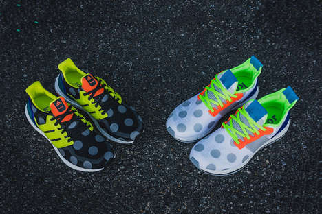 Vibrant Polka Dot Sneakers - Japan's Kolor Collaborated with adidas for a Playfully Decorated Series