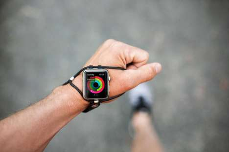 Ergonomic Runner Smartwatch Straps - The 'SHIFT' Performance Band Keeps Smartwatches within Sight