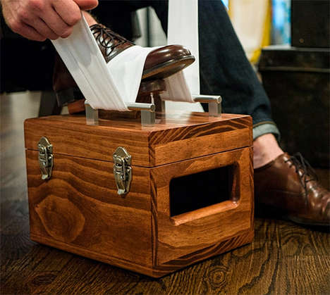 Handmade Shoe shine Kits - The American Shine Box is Crafted from Wood in Philadelphia