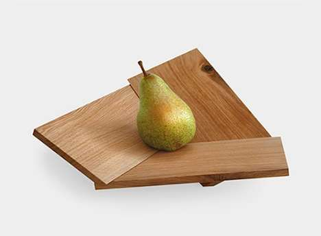 Geometric Fruit Bowls - This Wooden Fruit Bowl Has an Unusual Modular Shape
