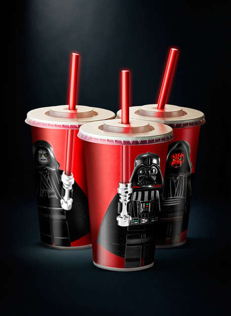 Intergalactic Weaponry Refreshment Branding - These Star Wars Paper Cups Turn Straws into Swords
