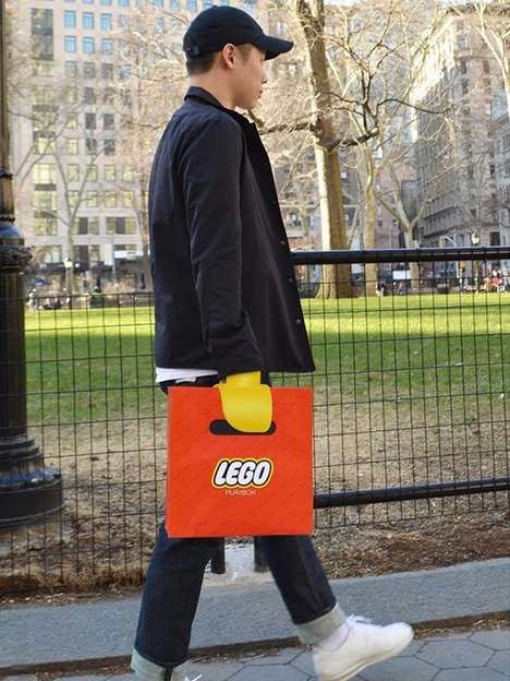 Illusionary Toy Store Bags - The LEGO 'Playbox' Store Bag Transforms the Shopper's Hand into a Toy