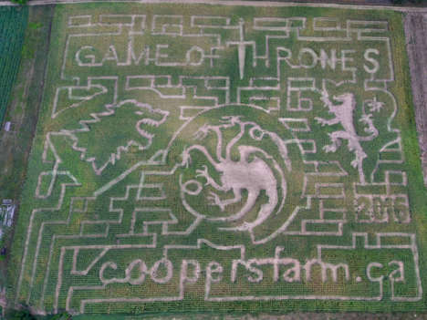 Fantasy Corn Mazes - Cooper's CSA Farm and Maze Built a Game of Thrones-Themed Corn Maze